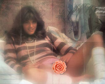 """Mature Vintage Penthouse Mens Girlie Pinup : Danielle Deneux Pet Of The Year Fold Out Poster 32"""" x 21"""" Double Sided"""