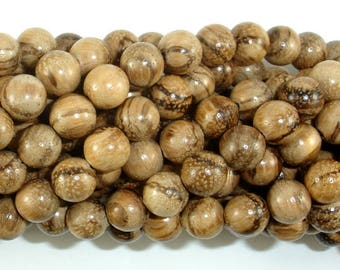 Aqarwood Beads, 8mm(8.3mm) Round Beads, 34 Inch, Full strand, Approx 108 Beads, Mala Beads (011742002)