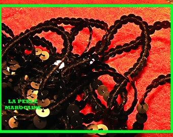 4 BLACK SEQUINS A 6MM EMBELISSEMENT SCRAPBOOKING SEWING