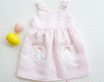 BUNNY SPOT Dress - Baby Girls Easter Dress, Girls Easter Dress