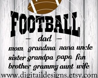 Football Mom SVG - png - dxf - eps - fcm - ai - Football Family Cut file - Football Dad SVG - Football Mom Cut File - Football Family Design