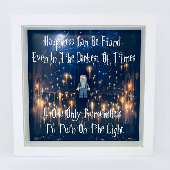 "Dumbledore ""Happiness Can Be Found"" Minifigure Frame"