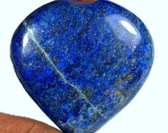 AAA Quality Natural Lapis Lazuli Gemstone 502Ct.Smooth Cabochon Size-51x50x22 MM Gemstone Cabochon Best for Your Pendant,Handmade Cabochon