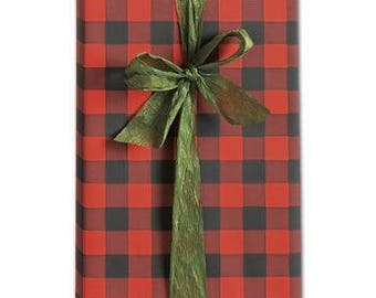 Buffalo Plaid Wrapping Paper  Gift Wrap| Buffalo Pattern| 30 inches x 10 feet| Gift Wrap Paper| Wrapping Paper| Buffalo Pattern| Gift Wrap