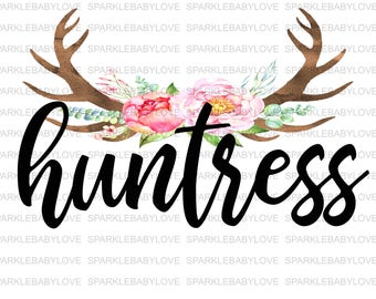 Huntress Floral Antler Iron on, DIY iron on, Sublimation transfer, Ready to Press, Iron on Ready, htv printed, Iron on Transfer