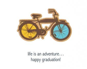 Graduation Day Card - Happy Graduation Card - Homemade Graduation Card - Son Graduation Card - Congratulations Grad - Life Is An Adventure