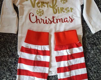 "3 piece ""very first christmas"" set!!"