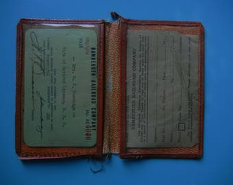 Bamberger Railroad Pass with Time Pass Slip and Carry Case