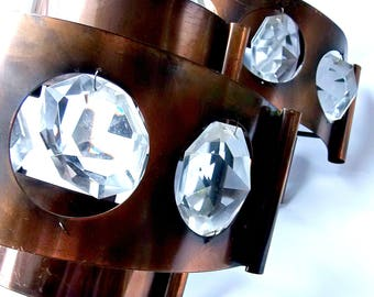 Mid century copper wall lamps