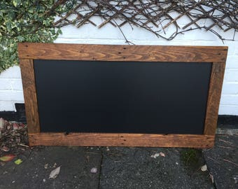 Stunning Rustic Pine Chalkboard Menu - Restaurant Chalkboard.