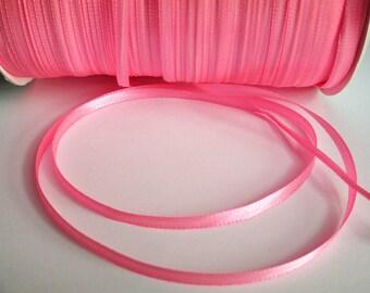 5 m (1) 3mm pink satin ribbon