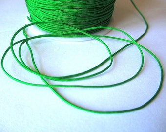 5 m wire braided green nylon 1 mm