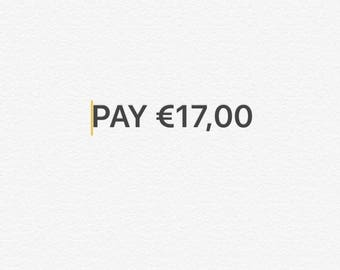 Shipping 26 euros minus 9 euros difference in products price