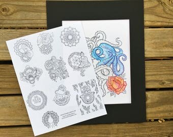 Soulfully Yours Coloring Page Series