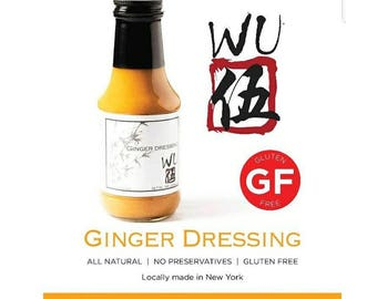 Wu Japanese Ginger dressing for sale. (6 bottles) - Buy Ginger dressing - Asian dressing - Hibachi dressing-Salad dressing-Gluten free sauce