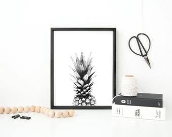 Pineapple Scandinavian home print