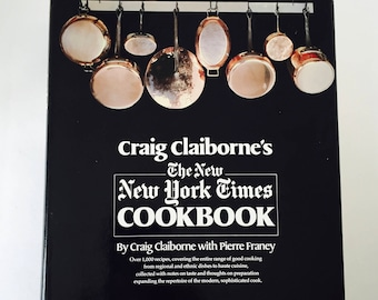The NEW New York Times Cook book / Vintage Craig Claiborne NY Times Cookbook 1979 Hardcover Dust Jacket
