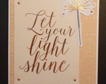 Let Your Light Shine Encouragement Card 1558
