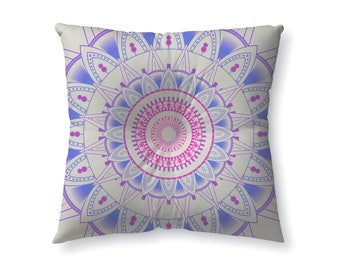Pink and Purple mandala - floor pillow