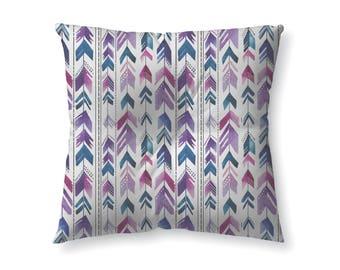 Watercolor Arrows- Purple- floor pillow