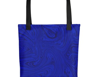 Fluid Blue Tote bag    purse,bag, summer, beach bag, fluid art