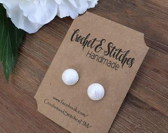 Polymer Clay Earrings ~ Ladies Earrings ~ Dome Earrings
