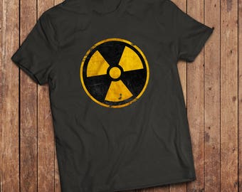 Nuclear Reactor T-Shirt, Nuclear Sign, Biological substances, Science nerd.