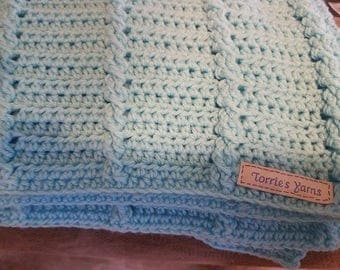 Cabled Baby Blanket