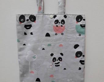 panda pattern library bag