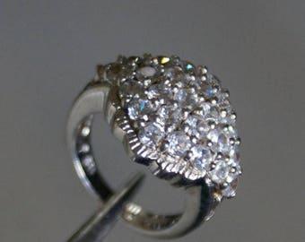 ON SALE Elegant CZ Silver Ring