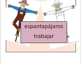 Spanish Parts of a Scarecrow work Montessori Preschool Homeschool Printables