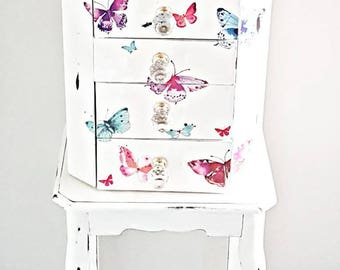 Jewellry armoire, butterfly decor, butterfly bedroom decor jewellry holder, jewellery box, gift for her, new home gift, jewelry storage,