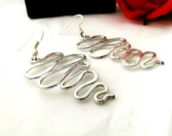 Alternative aluminum ethnic snake earrings for her Christmas gift