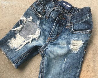 18-24m Baby Boy Custom Denim Shorts