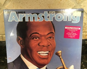 Louis Armstrong Pops Sealed New NOS Vintage - 2 LP Vinyl Record LP - Free Shipping!