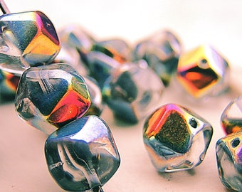 Bohemian - english cut crystal volcano stained finish, 15 beads 8 mm