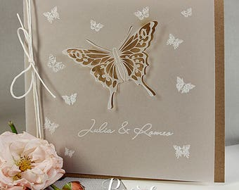 Eko Handmade Butterfly Parchment Day Invitations
