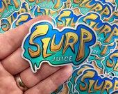 Slurp Juice Logo (Fortnite) | Brushed Alloy Sticker
