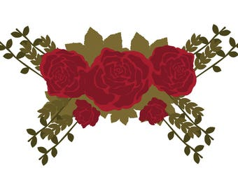 roses SVG, winter flower svg, Christmas floral svg, rose decor svg, holiday flower SVG, rose  SVG, floral svg, flower svg, flowers svg