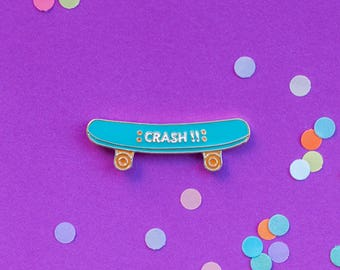 Skate board enamel pin