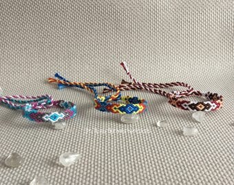 Colorful friendshipbracelets, macrame, hippie, gypsy, boho