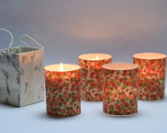 Floral Cherry Blossom Soy Luminary Candle - Case of 4