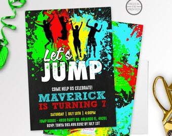Jump Birthday Invitation | Jump Party Invitation | Jump Invitation | Jump Party | Trampoline Party | Bounce House | Digital or Printed