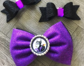 Maleficent Hair Bow, Maleficent Bow, Villan Hair Bow, Hair Bows, Bows, Tulle Hair Bows