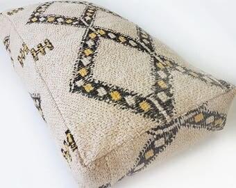 Beni Ourain Floor Cushion XL - Moroccan Pouf 17