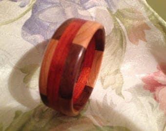 Wood bangle bracelet #11