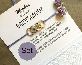 Bridesmaid bracelet set of 6,  Will you be my Bridesmaid gift, bridesmaid bracelets, Bridesmaid gift set ,Bridesmaid gift B3
