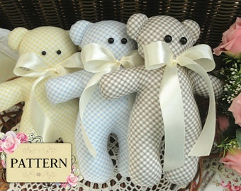 Sewing PATTERN Teddy Bear Stuffed Toy Pattern Baby Gift Soft Toys Pattern Plush Toys Stuffed Dolls Baby Bear Sewing Pattern ENGLISH in PDF