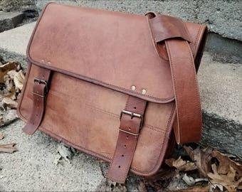 Leather Messenger Bag. Leather Briefcase. Personalized Men's Leather Messenger Bag. Men's Messenger Bag. Mens Briefcase. Crossbody Bag.