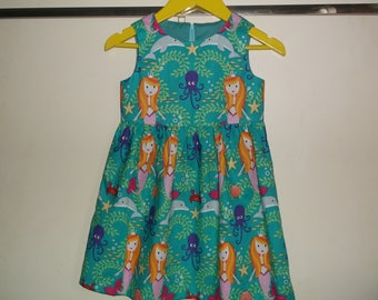 Mermaids and dolphins dress